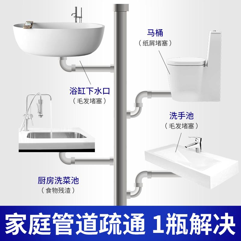 ONEFULL厨房下水管道疏通剂强力溶解去味除臭通厕所马桶地漏神器