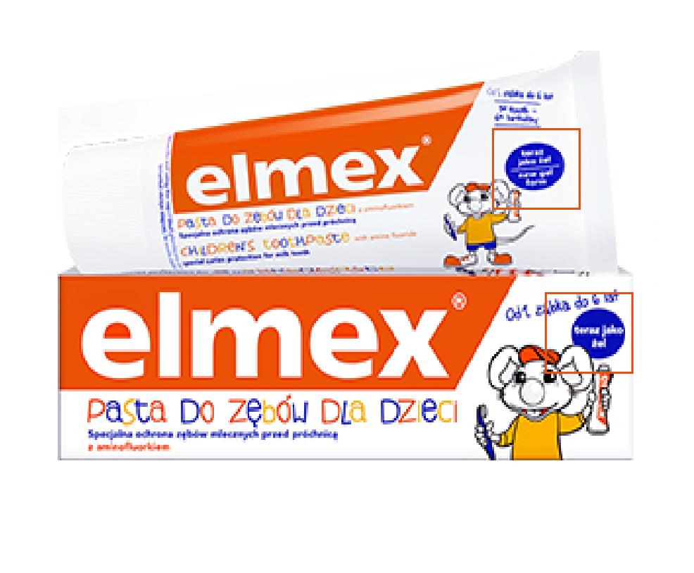 elmex瑞士进口0-6岁儿童可吞咽防蛀含氟宝宝牙膏50ml