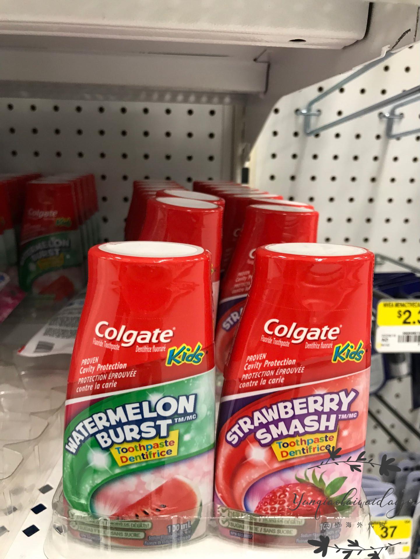 现货加拿大高露洁幼儿童宝宝 2合1牙膏 草莓味/西瓜味