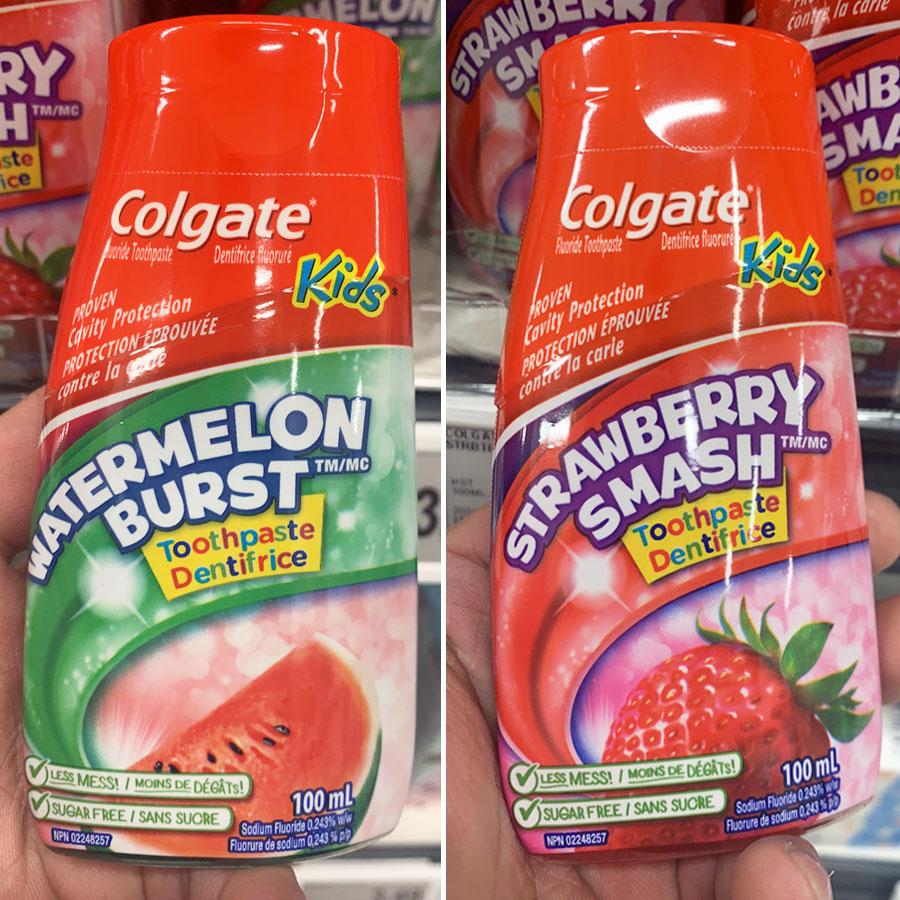 现货 加拿大高露洁colgate儿童牙膏宝宝漱口水100ml草莓味/西瓜味
