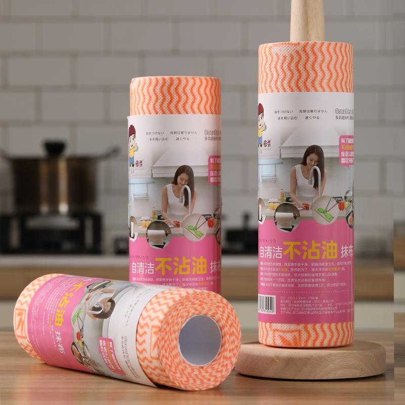 不粘油懒人抹布厨房纸一次性洗碗巾家务清洁干湿两用无纺布可水洗