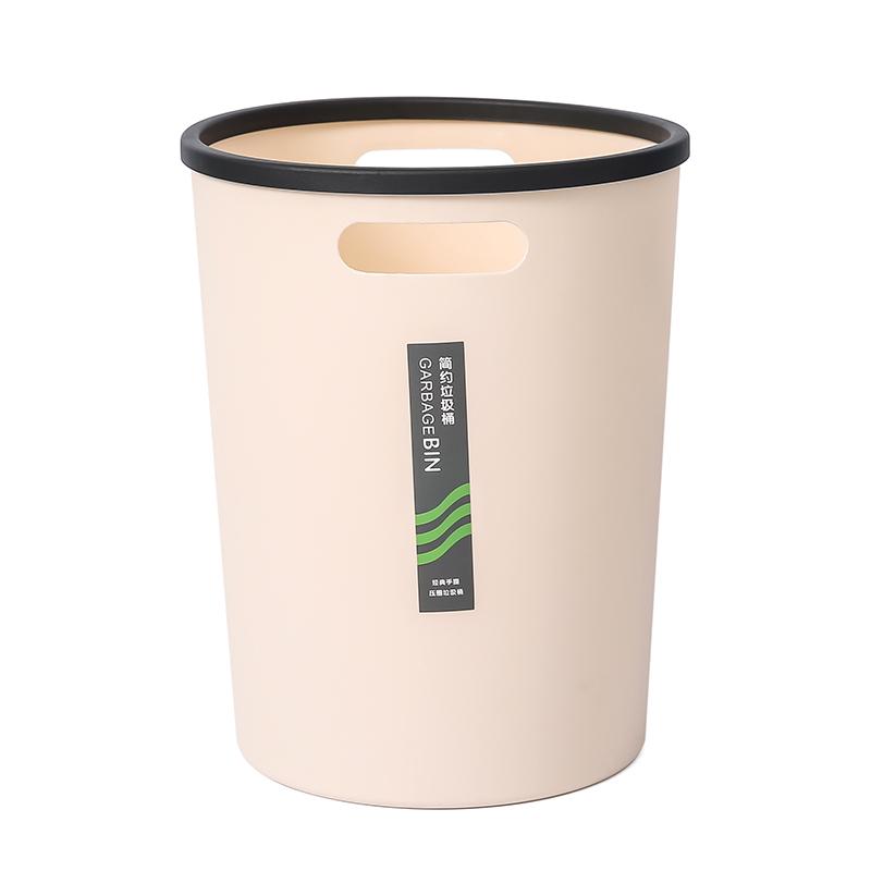 垃圾桶创意家用厨房厕所卫生间大号办公室简约客厅拉圾筒压圈纸篓