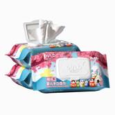 怡恩贝婴儿清洁手口湿巾M码80抽3包宝宝家用带盖手PP湿纸巾