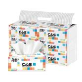 洁柔抽纸巾大包餐巾纸婴儿卫生纸6包家用面巾纸实惠装整箱订制款