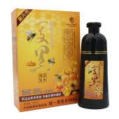 威蒂娜染发剂蜂胶五贝子一支黑植物天然纯无刺激泡泡染2020流行色