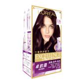 欧莱雅卓韵霜双膏染发霜自然持久固色染发剂温和养护黑色染发膏