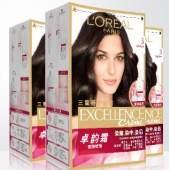 欧莱雅卓韵霜养护染发霜3盒持久固色遮白染发剂女染发膏官方正品