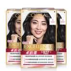 【预售】欧莱雅卓韵霜染发剂自己在家染发膏霜自然黑色植物氨基酸