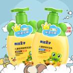青蛙王子儿童洗发水宝宝沐浴露女孩专用护发无硅油柔顺洗发露套装