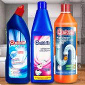 卫浴清洁养护组合 mistolin管道疏通剂/洁厕剂/瓷砖清洁剂